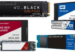 Gama de colores de los SSD Western Digital