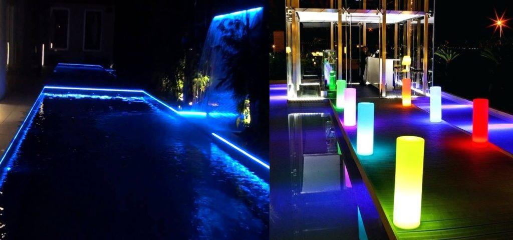 led piscina