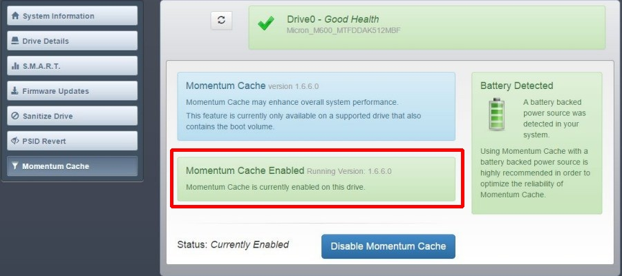 momentum-cache